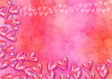 Hand Painted Watercolor Collage Heart Paper Royalty Free Stock Images