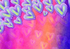 Hand Painted Watercolor Collage Heart Paper Stock Photography