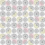Grey tile ornamental seamless pattern stock illustration