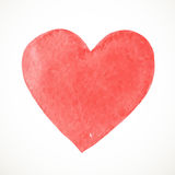 Hand painted watercolor paint heart on white background Stock Photos