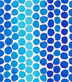 Hand painted watercolor seamless pattern with indigo blue polka dots. Abstract modern background, illustration. stock illustration