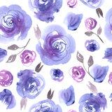 Hand painted watercolor seamless pattern. Royalty Free Stock Photos