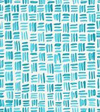 Hand painted watercolor seamless repeat turquoise crosshatch basket weave pattern. Abstract modern background, illustration. royalty free illustration