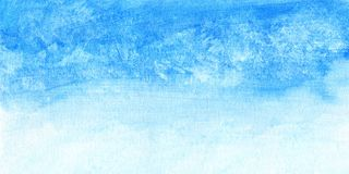 Hand painted watercolor sky and clouds, abstract watercolor background, scanned illustration.  Royalty Free Stock Photography