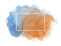 Hand painted watercolor texture Stock Images
