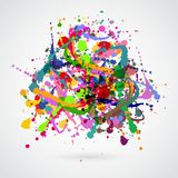 Hand painted watercolor texture Royalty Free Stock Photos