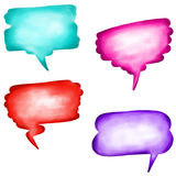 Hand Painted Watercolor Word Bubbles Royalty Free Stock Photo
