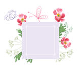 Hand Painted Wildflower floral pattern Stock Photo