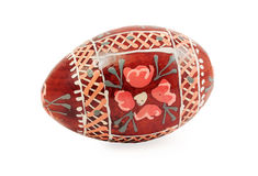 Hand painted wooden easter egg Stock Photos
