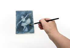 Hand and Painting Royalty Free Stock Photos