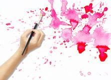 Hand painting Royalty Free Stock Image