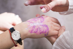 Hand painting Royalty Free Stock Photos
