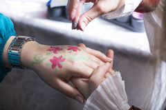 Hand painting Royalty Free Stock Images