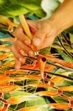 Hand Painting Batik Stock Image