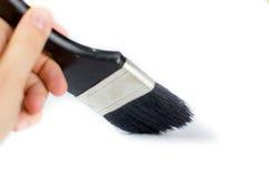 Hand painting black brush Stock Photo