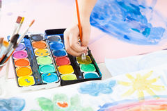 Hand painting Stock Photography