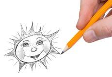 Hand painting sun