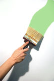 Hand painting wall Royalty Free Stock Photo