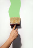 Hand painting wall Royalty Free Stock Photography