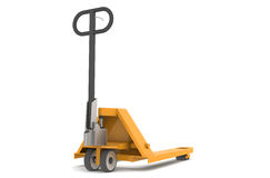 Hand Pallet Truck. Part of warehouse series Royalty Free Stock Images