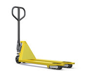 Hand pallet truck. 3d render image. Royalty Free Stock Photos
