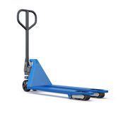Hand pallet truck  on white background. 3d render image Royalty Free Stock Photos