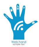 Hand palm icon Royalty Free Stock Photography