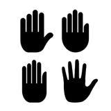 Hand palm icon Stock Image
