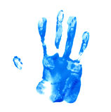 Hand palm oil paint print Royalty Free Stock Image