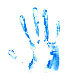 Hand palm oil paint print Stock Photography