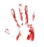 Hand palm oil paint print Stock Photo