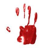 Hand palm oil paint print Stock Photos