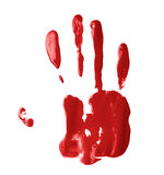 Hand palm oil paint print Royalty Free Stock Photography