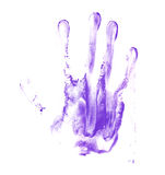 Hand palm oil paint print Royalty Free Stock Images