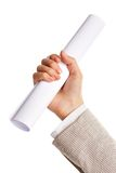 Hand with paper Royalty Free Stock Image