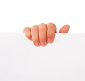 Hand, paper, advertising Royalty Free Stock Photography