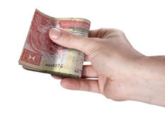 Hand Passing Wad Of Cash Royalty Free Stock Photos