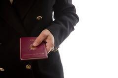 Hand - Passport Royalty Free Stock Photos
