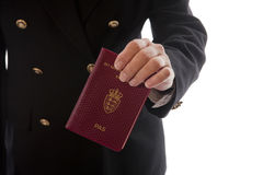 Hand - Passport handing over Royalty Free Stock Photo