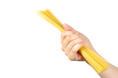Hand with pasta Royalty Free Stock Photo