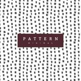 Hand pattern with brush strokes. Fashion background. Hand crafted seamless patterns. They have a textured look and can be used to decorate your print designs stock illustration