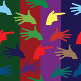 Hand pattern Stock Images