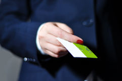 Hand paying with credit card Stock Photography