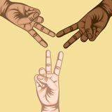 Hand peace and love symbol Royalty Free Stock Photos