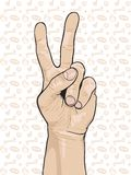 Hand Peace Sign Stock Images