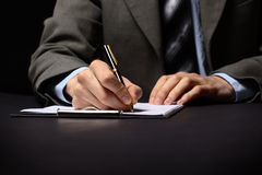 Hand with pen. Businessman's hand with pen Stock Photos