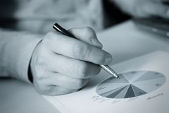Hand and pen Royalty Free Stock Image