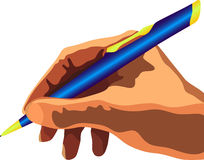 Hand with pen Royalty Free Stock Photography