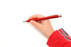 Hand and pen Royalty Free Stock Photo