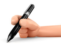 Hand and Pen Royalty Free Stock Photos
